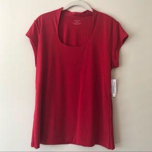Scoopneck short sleeve shirt